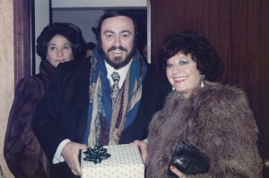 Donna Franca and Luciano Pavarotti
